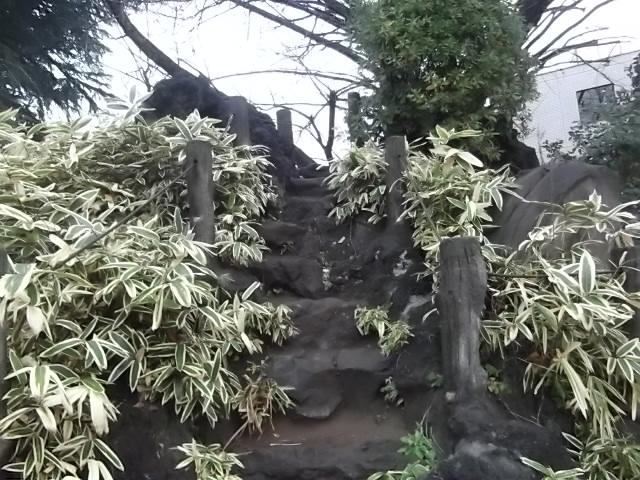 鳩森八幡宮 富士塚