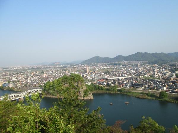 善光寺山公園展望台からの眺め