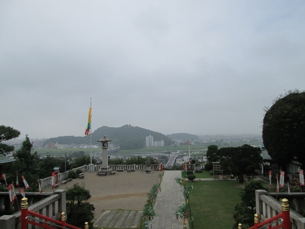 社殿前からの眺め